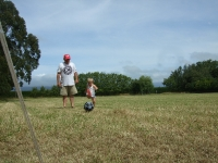 Playing some football