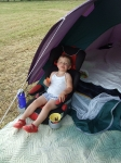 Chilling out on a camp evening