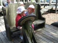 With Astrid at the Takaka playground