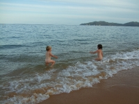 Quick impromptu dip in the sea