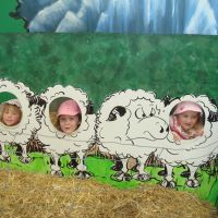 The girls as sheep