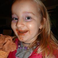 Jana loves her icecream