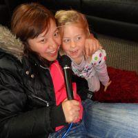 Jean singing Karaoke with Poppy