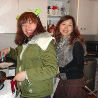 Jing & Amy cooking