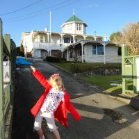 Then visiting the house Adrienne grew up in - Karori.