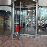 Poppy has always wanted to play in a revolving door