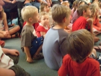 At church during the Kids\' story