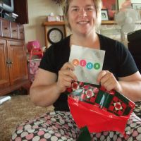Mummy opens a present too