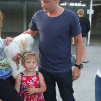 Meeting Uncle Jono at the airport