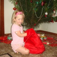 Christmas morning Santa sack