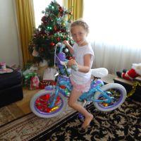 Poppy\'s new mermaid bike