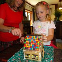 Finally the day arrives to eat Poppy\'s gingerbread house!