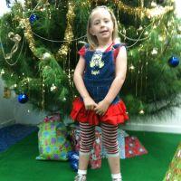Poppy waiting for Santa
