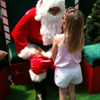 Santa remembered Poppy from last year!