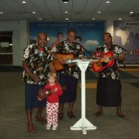 At Nadi Airport before customs