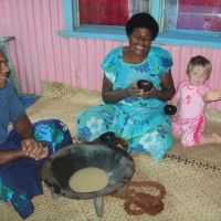Drinking kava with the chief\'s wife