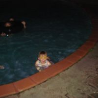 Back in the pool - at night!