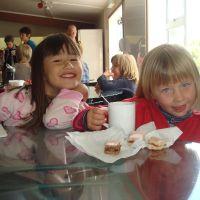 Anouk & Poppy at morning tea