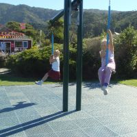 With Tayte at the Foreshore playground