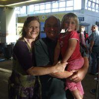 GranJan & Yogi at the airport
