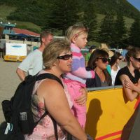 Watching the surf life saving games