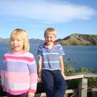 Poppy & Azzan overlooking the port
