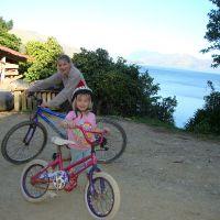 On the bikes