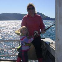 Poppy & Adrienne fishing