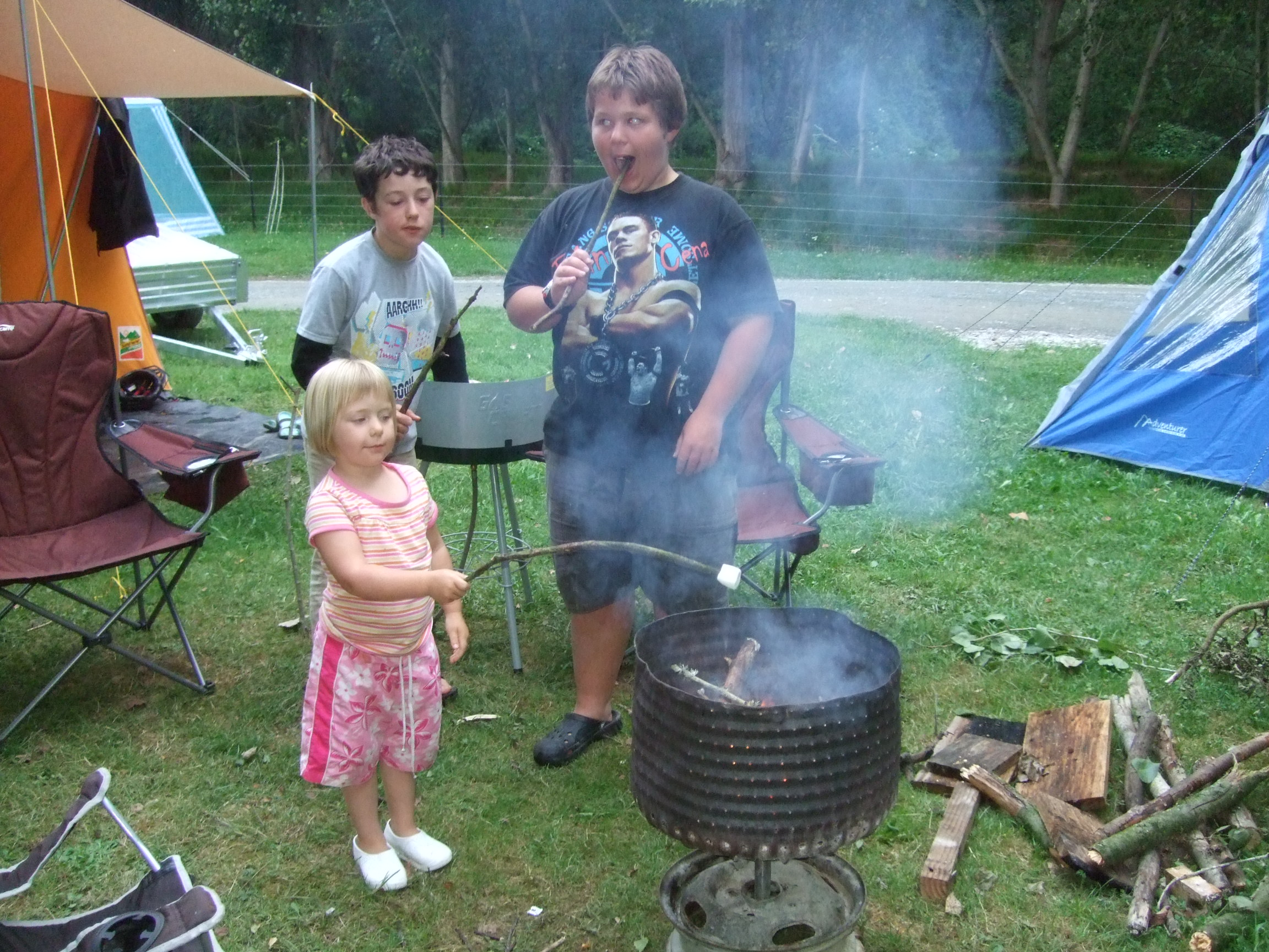 marshmallows with Nick & Jordan