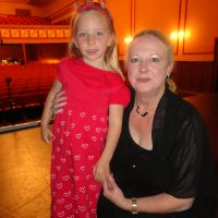 Poppy with director, Lynley