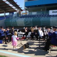 Conducting the Nelson City Brass Band